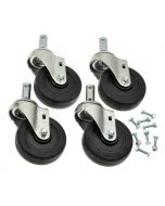 """4"""" CASTER KIT (4) AND HARDWARE"""
