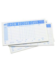 SHOW RECORD BLANK, PAD OF 25