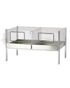 PRO PIG 36 X 24 X 12 CAGE, 2 COMPS (18X24)
