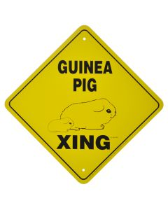 """GUINEA PIG CROSSING"" SIGN"