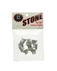 "STONE TATTOO FIGURES 0-9 (5/16"")"