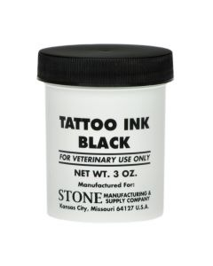 STONE TATTOO BLACK SEMI-PASTE INK, 3 OZ