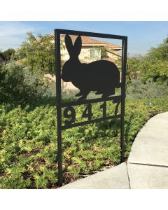 Rabbit Curbside Address Sign