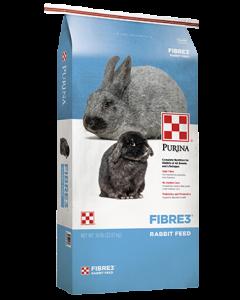 Purina Fibre3 Rabbit Feed, 50 lb.